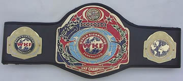 work kickboxing championship belt