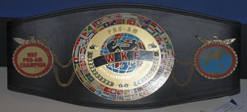 work kickboxing championship belts